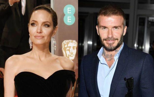 Angelina Jolie và David Beckham.