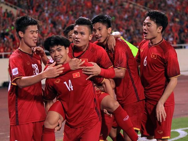 Màn ăn mừng chiến thắng của các cầu thủ ĐT Việt Nam