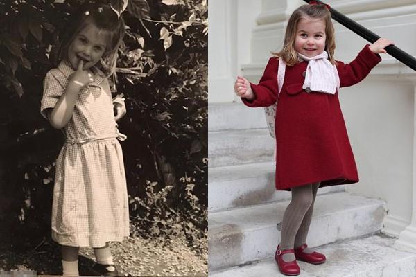 Hình ảnh dân mạng so sánh cô và công chúa nhỏ Charlotte.