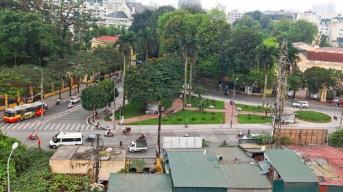 Vườn hoa Bác Cổ cũng được điểm tên trong danh sách có nghi vấn về hoạt động mại dâm.
