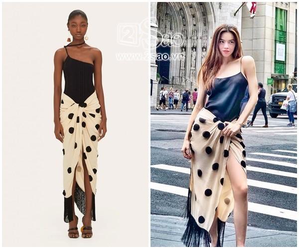 Trước đó không lâu, khi thả dáng ở trời Âu, Hà Hồ khoe outfit lạ mắt cùng áo hai dây cùng chiếc váy như khăn trải bàn gây nhiều tranh cãi. Thế nhưng sự thật chiếc váy lại có giá chẳng hề rẻ: 669 USD (khoảng 15 triệu đồng) từ thương hiệu Jacquemus.