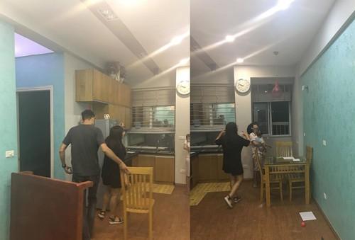 Khu kệ bếp trước đây nhìn khá tối tăm và cũ...