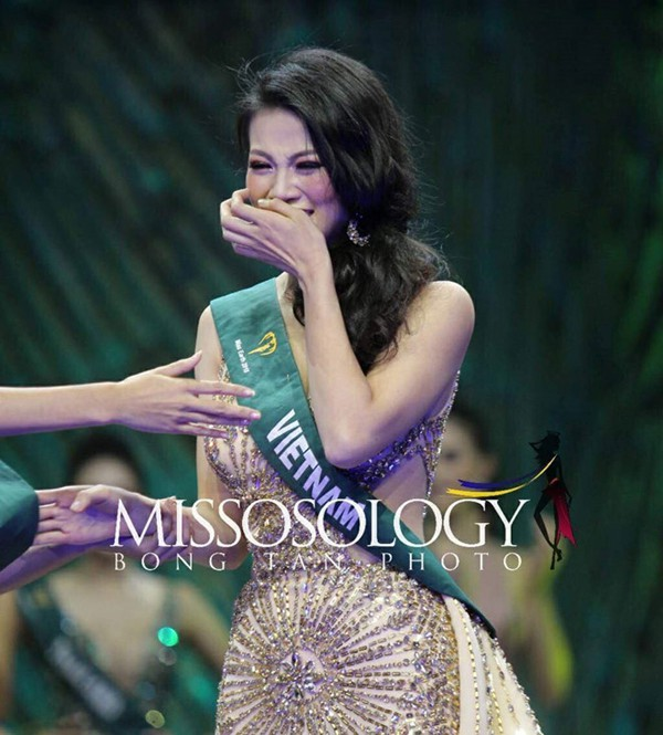 Nguyễn Phương Khánh không thể tin bản thân đã đăng quang Miss Earth 2018.