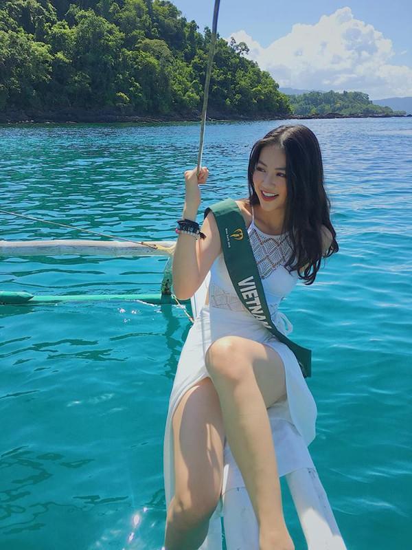 Một số hình ảnh đẹp của Nguyễn Phương Khánh tại Hoa hậu Trái đất 2018.