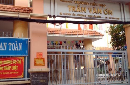 Trường Tiểu học Trần Văn Ơn, quận Tân Bình. Ảnh: Mạnh Tùng.