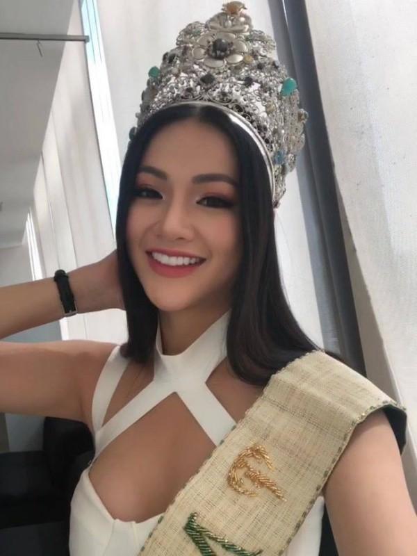 Nhan sắc hoàn toàn thay đổi khi Phương Khánh đăng quang Hoa hậu Trái đất 2018