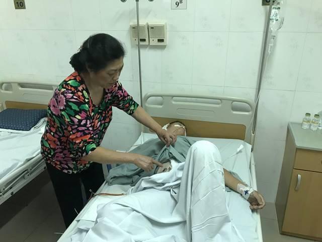 Sức khỏe tài xế Nguyễn Đức Tiến vẫn rất yếu.