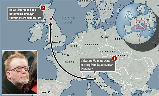 Salvatore bỏ nhà đi bụi từ Ý sang Scotland và giả vờ mất trí.