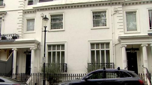 Căn nhà rộng lớn của vợ chồng Hajiyeva ở trung tâm thủ đô London, Anh. Ảnh: BBC.