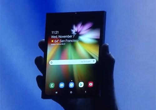 Samsung chưa sẵn sàng giới thiệu toàn bộ thiết kế của smartphone màn hình gập.