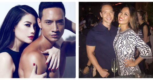 Kim Lý bên Trương Ngọc Ánh (trái) và tình tứ với Kiko Chan