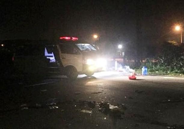 Hiện trường vụ tai nạn khiến 3 người tử vong tại chỗ.
