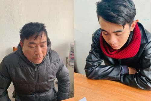 Đối tượng Mai Xuân Thanh (trái) và Lê Anh Tuấn. Ảnh: Công an Thanh Hóa