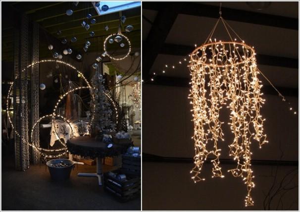 8. Thay vì mua đèn chiếu sáng tốn kém và không đủ hấp dẫn, bạn có thể tận dụng dây thép và những dải đèn LED để tạo nên không gian đẹp cuốn hút.