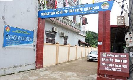 Trường TP Dân tộc nội trú THCS huyện Thanh Sơn (tỉnh Phú Thọ). Ảnh: TL