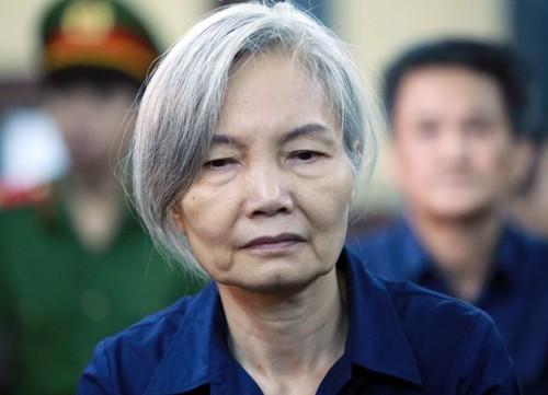 Nguyễn Thị Kim Xuyến (nguyên Phó tổng giám đốc DAB) bị xác định cấu kết với ông Bình với vai trò đồng phạm tích cực. Ảnh: Thành Nguyễn.