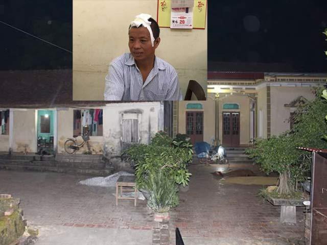 Hiện trường vụ án. Nhà bên phải là nơi Tiến sát hại chị Hằng, bên trái là bố con anh Hoạt.