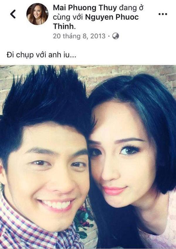 Mai Phương Thúy cũng từng tương tác thân mật với Noo trên Facebook như này