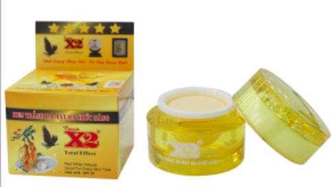 Một sản phẩm Kem trắng da mặt X2 của công ty Phúc Lang