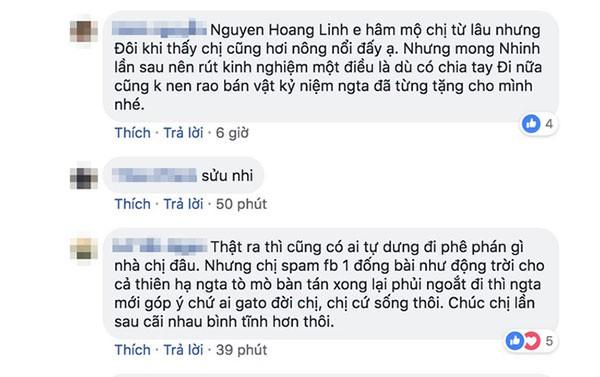 Hoàng Linh phải nhận không ít lời phê bình sau khi đùng đùng lên Facebook tuyên bố chia tay chồng sắp cưới.