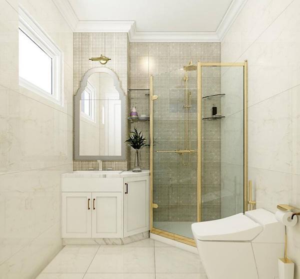 Phòng tắm, nhà vệ sinh sang chảnh như khách sạn 5 sao.