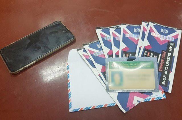 Vé cùng thẻ nhân viên bảo vệ ông Trịnh Ngọc Tr.