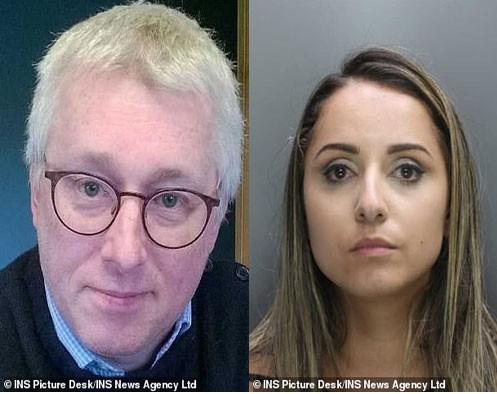 Paula Dos Reis (phải) thường xuyên gửi hình ảnh và video lạm dụng các nạn nhân cho Andrew Barker (trái)