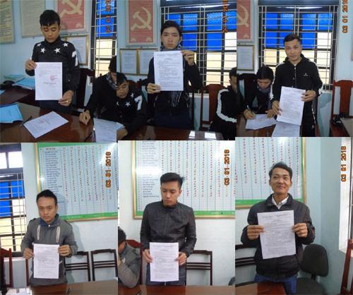 6 người bị Công an huyện Tĩnh Gia tống đạt Quyết định xử phạt vi phạm hành chính