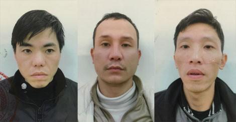 Các đối tượng Hiếu, Khánh, Phong trong vụ thuê dịch vụ vận chuyển trộm cắp tài sản tại quận Cầu Giấy.