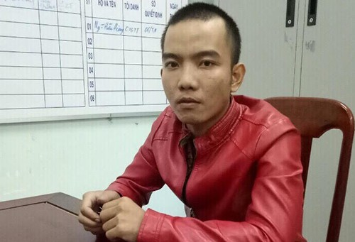 Cường bị bắt tại Phú Yên. Ảnh: Công an cung cấp.