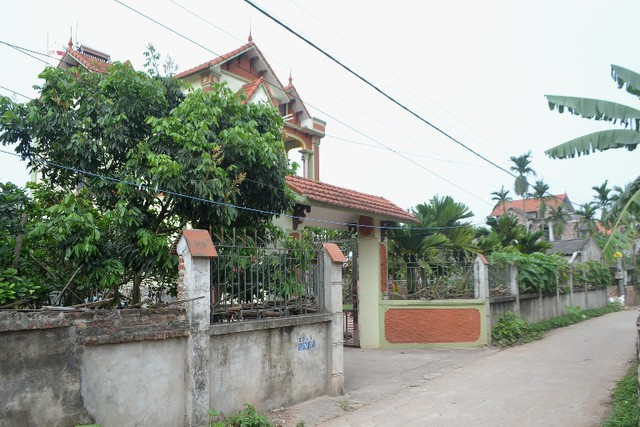 Căn nhà nơi gia đình vợ chồng anh Hào sinh sống tại quê nội tỉnh Hưng Yên. Ảnh: Đ.Tùy