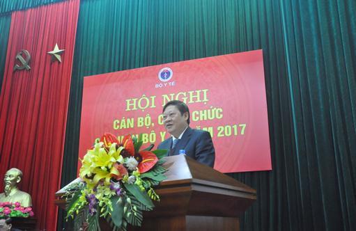 GS.TS Nguyễn Viết Tiến - Thứ trưởng Bộ Y tế phát biểu tại Hội nghị