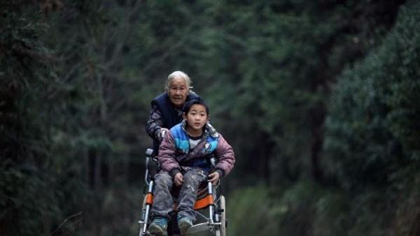 Cụ bà 76 tuổi hàng ngày đẩy xe lăn 24 km đưa cháu đến trường