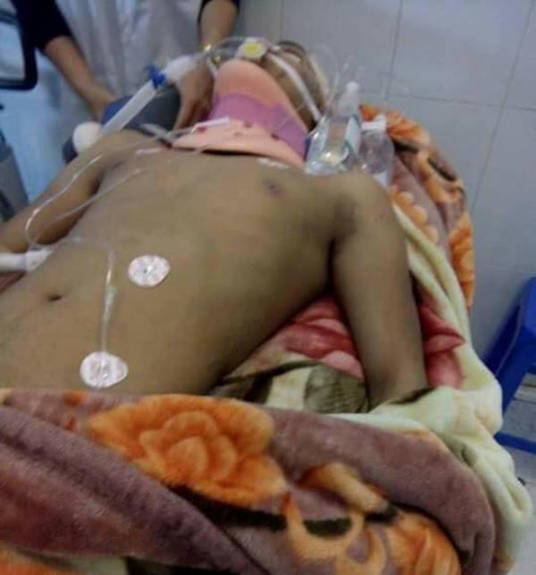 Nạn nhân L. tử vong tại Bệnh viện Việt Đức sáng nay. Ảnh: Bạn đọc cung cấp