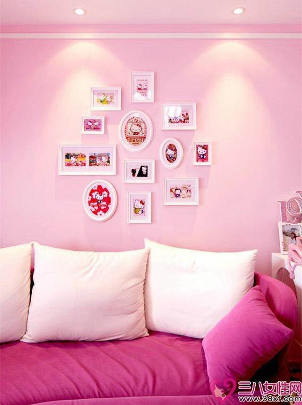 Những chi tiết trang trí nhỏ nhưng tinh tế như khung ảnh treo tường, giấy dán tường họa tiết nhí,…