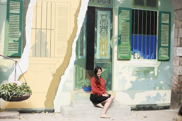 Một bức tranh vẽ 3D mô tả căn nhà phố cổ Hà Nội.