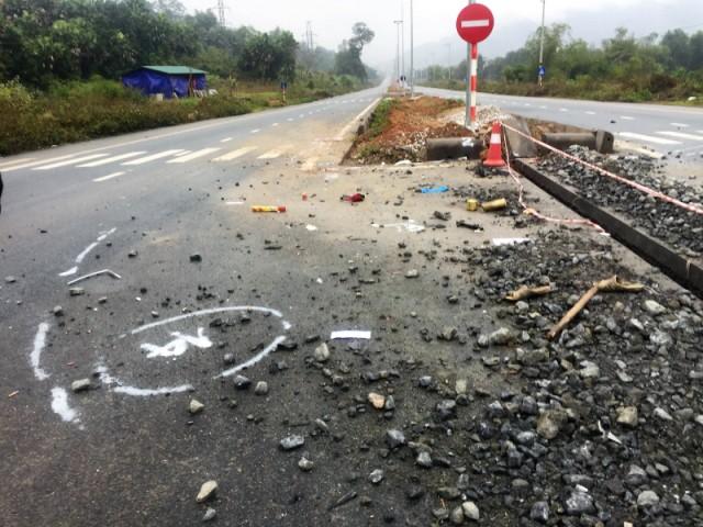 Hiện trường vụ tai nạn khiến 5 công nhân tử vong. Ảnh: PV