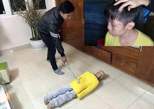 Nam thực nghiệm hành vi hành hạ con.