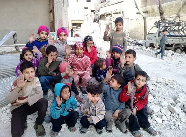 Ghouta bây giờ là địa ngục trần gian đối với những đứa trẻ nơi đây.