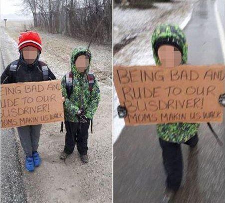 Mẹ bắt 2 con cầm biển, đi bộ 6km tới trường, đến khi biết được nguyên nhân ai cũng khen ngợi cách dạy trẻ của bà mẹ