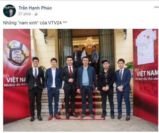 BTV Hạnh Phúc mới chia sẻ hình ảnh có mặt BTV Quang Minh