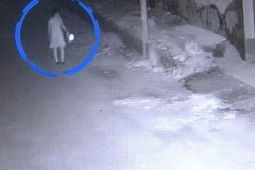 Tiểu Yến đi soi bọ cạp gần nhà.