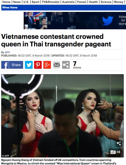 Tờ Daily Mail cũng đã dẫn lại bài viết từ AFP về sự kiện này