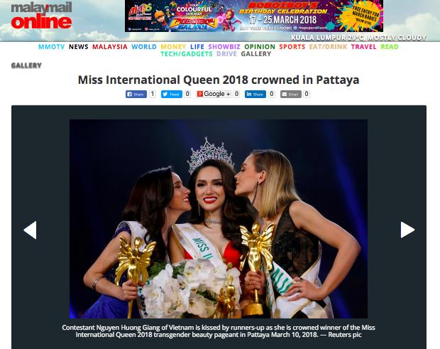 Tờ MalayMailOnline của Malaysia đưa tin về sự kiện