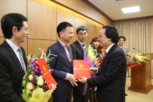 Ông Triệu Ngọc Lâm - Phó Tổng Biên tập phụ trách Báo Giáo dục & Thời đại giữ chức vụ Tổng Biên tập Báo Giáo dục & Thời đại.