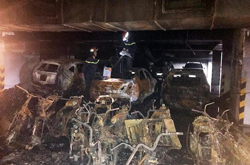 Lãnh đạo Công an TP HCM: 'Chung cư Carina cháy là do sự cố'