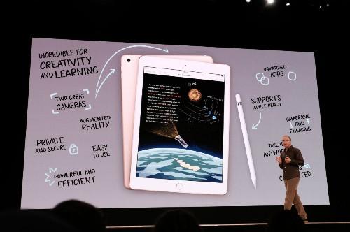iPad 9.7 inch mới có giá khởi điểm 299 USD nhưng tích hợp Touch ID, hỗ trợ bút Pencil như iPad Pro.