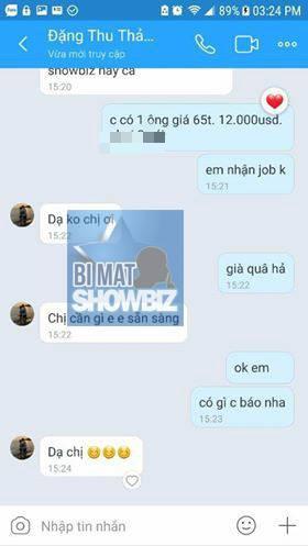 """Lộ tin nhắn gạ """"đi khách"""" 12.000 USD và câu trả lời của HH Đại dương Đặng Thu Thảo"""