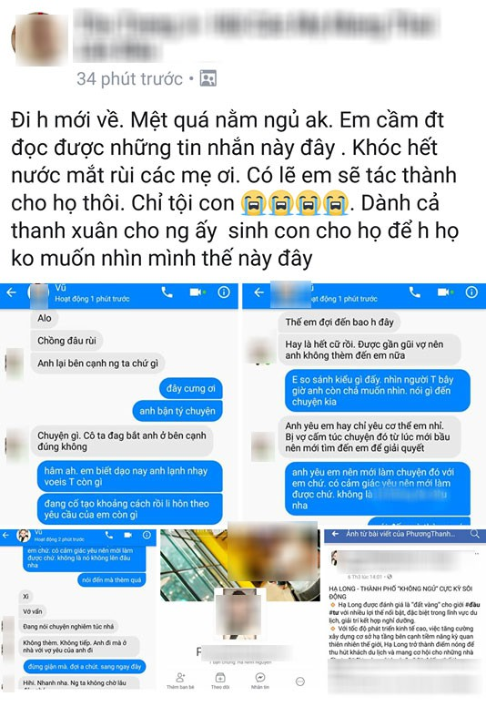 Bài viết người vợ tố chồng ngoại tình ngay khi mình đang ở cữ kèm theo Facebook cá nhân của cô bồ khiến hội chị em xôn xao.