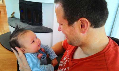 Chồng và con của chị Ngọc Quyên, đang sinh sống tại Na Uy. Ảnh: Ngọc Quyên.